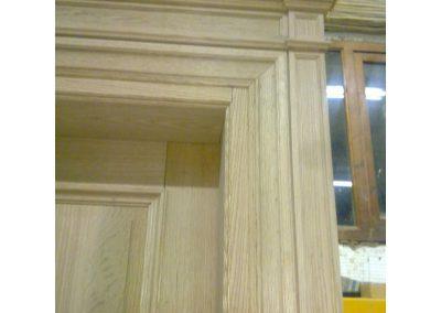 Δίφυλλη πόρτα σε ξυλεία δρυς