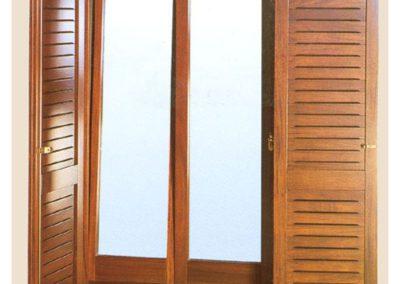 Δίφυλλο παντζούρι από ξυλεία μεράντι καστοριανού τύπου