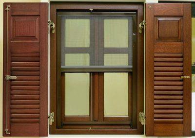 Δίφυλλο παράθυρο με 1 οριζόντιο καΐτι