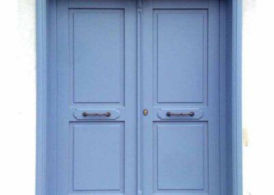 Δίφυλλη εξωτερική πόρτα περαστή