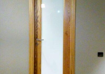 Υαλόθυρα σε ξυλεία δρυς μασίφ